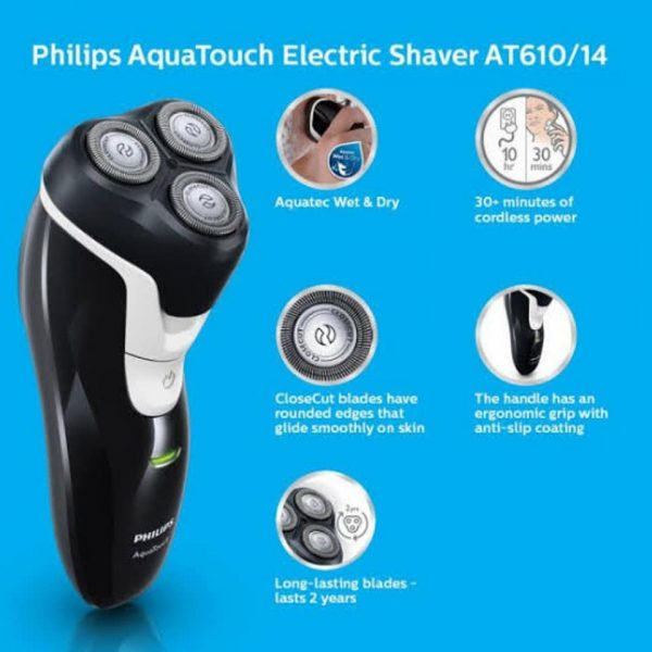 Best Electronics BDPhilips AT 610 AquaTouch Shaver Wet Dry in BD