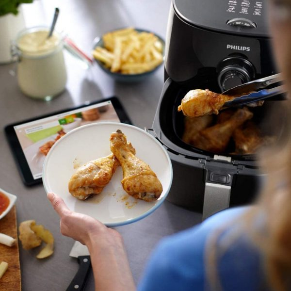 Best Electronics BDphilips hd972111 premium fryer with rapid air technology for healthy cooking hd972111 airfryer plastic 1500 w blackbrown 40325229